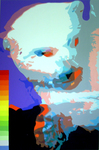 Eisbär (100x150cm), Öl und Acryl auf Leinwand