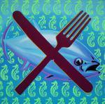 Thunfisch (100x100cm) , Öl und Acryl auf Leinwand