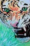 Tiger (100x150cm), Öl und Acryl auf Leinwand