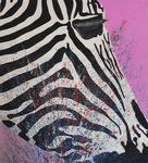 Zebra (100x150cm), Öl und Acryl auf Leinwand