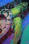 Turtle (100x150cm), Öl und Acryl auf Leinwand