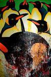 Königspinguine (100x150cm), Öl und Acryl auf Leinwand