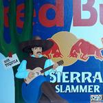 Red Bull meets Sierra Slammer (80x80cm), Öl auf Leinwand