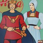 Alma meets Prinzenrolle (80x80 cm), Öl auf Leinwand