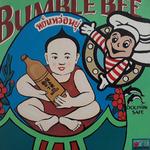 Bumble Bee meets Thaysauce (80x80 cm), Öl auf Leinwand