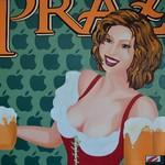 Prazecka meets Apple (80x80 cm), Öl auf Leinwand