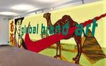 Chengdu meets Camel and Nike / 13x3 Meter / Öl+Acryl auf PVC Lochvinyl